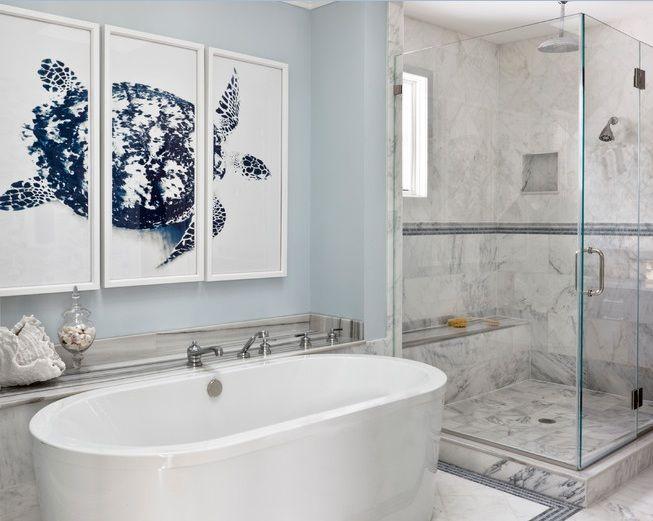 Art For Bathroom Ideas Magnificent Bathroom Art Ideas With Framed Turtle Wallpaper  Decolovernet Design Inspiration