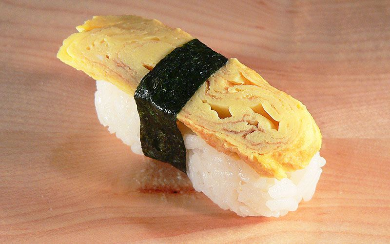 Tamago Nigiri Sushi Tamago Nigiri Sushi Opskrifter