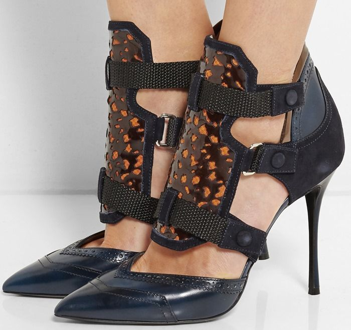 New Promotions Nicholas Kirkwood Leather Suede Blue Peter Pilotto And Pumps Storm