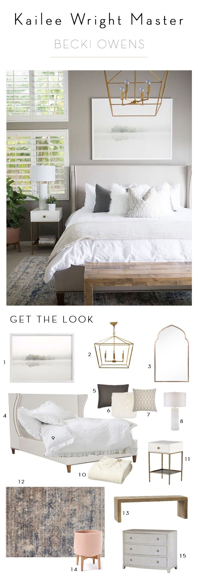 Kailee Wright Master Bedroom Revealbecki Owens Home
