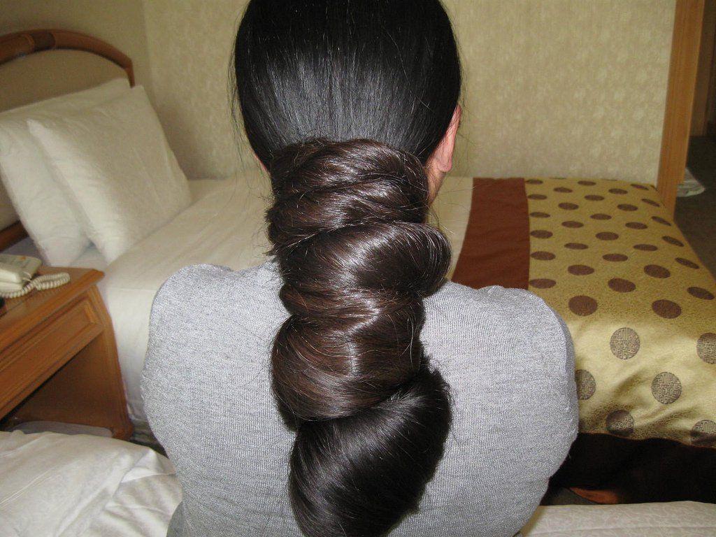 Indian Long Hair Bun