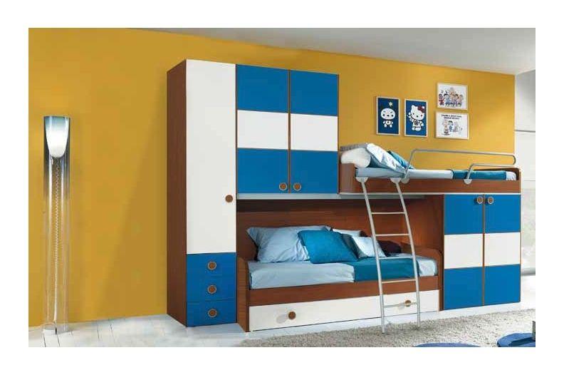 CHAMBRE ENFANT DOUBLE COUCHAGE LUCAS | Chambres enfants | Pinterest ...