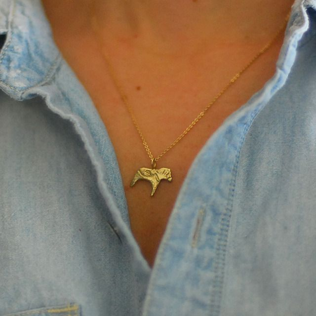 Dala Horse Necklace