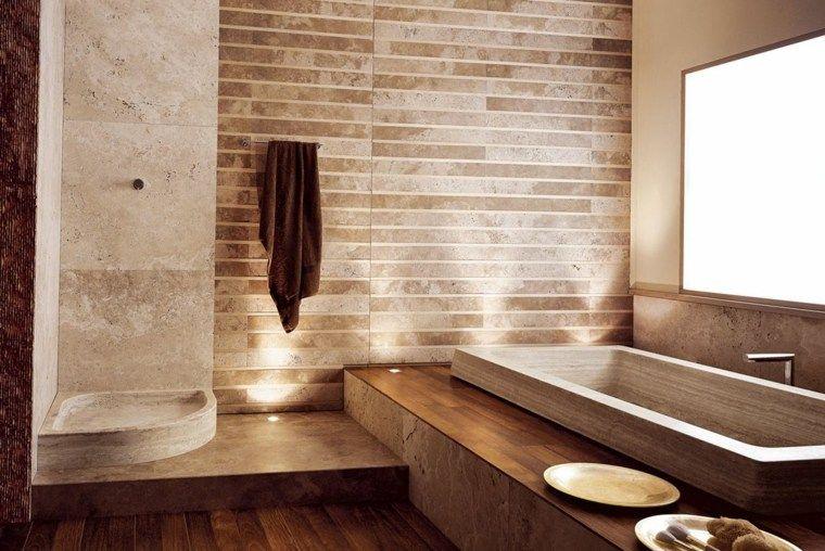 salle de bain travertin  la beauté de la pierre de tivoli  déco et