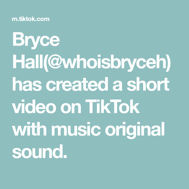 Bryce Hall Whoisbryceh Has Created A Short Video On Tiktok With Music Original Sound Video Game Rooms The Originals Faith