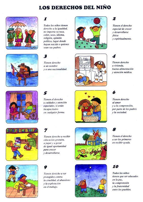 LOS DERECHOS DE LOS NIÑOS | Listo para imprimir | Pinterest | Pine ...