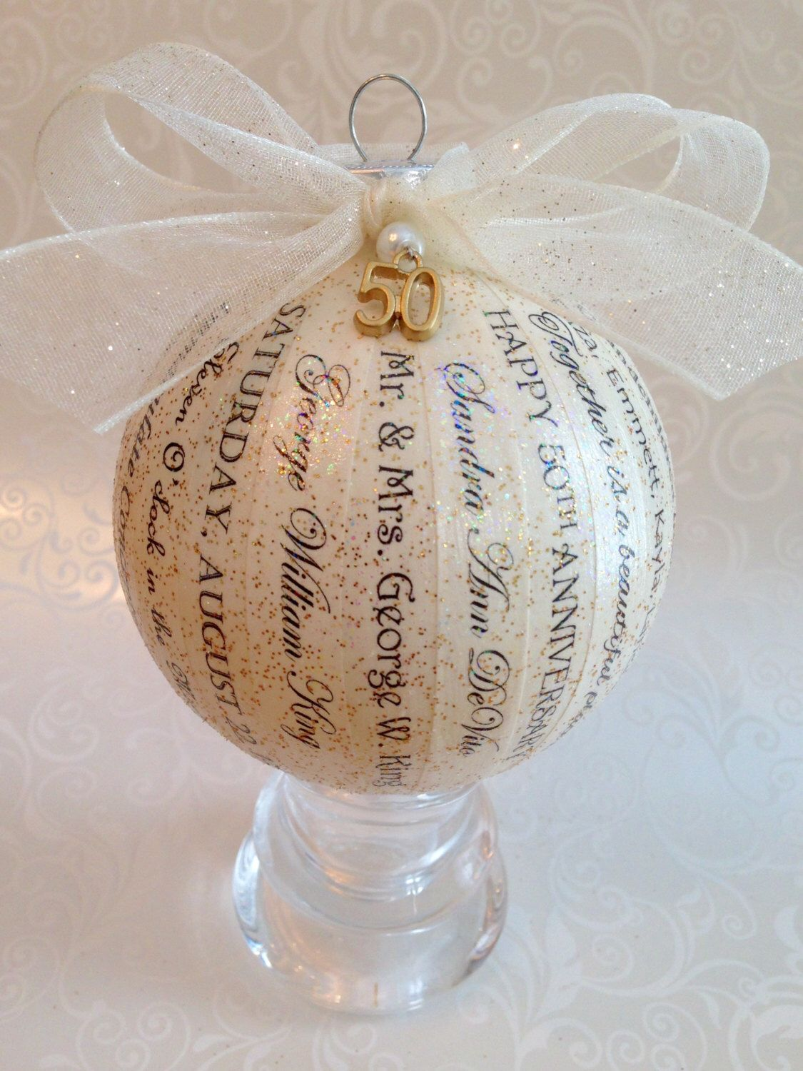 50th Anniversary Gift For Parentsfriends Personalized Ornament