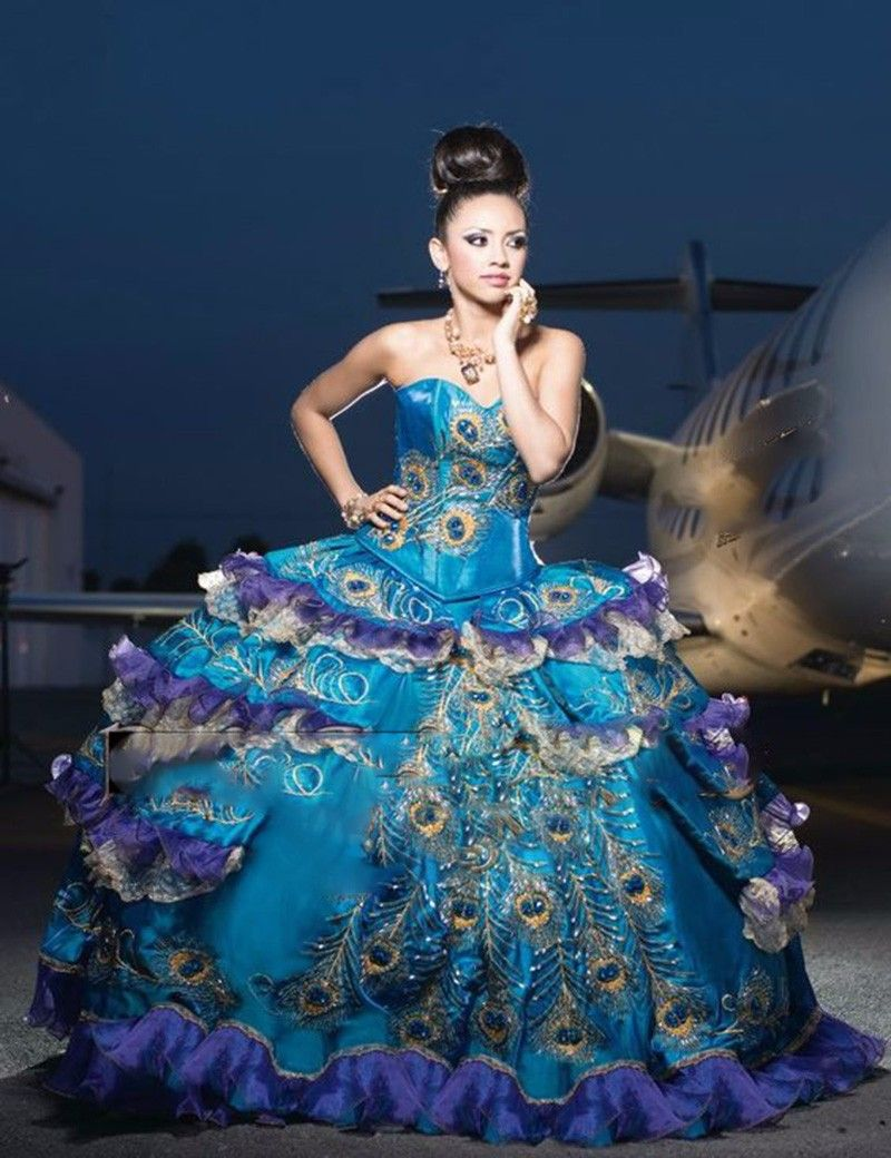Peacock Ball Dresses