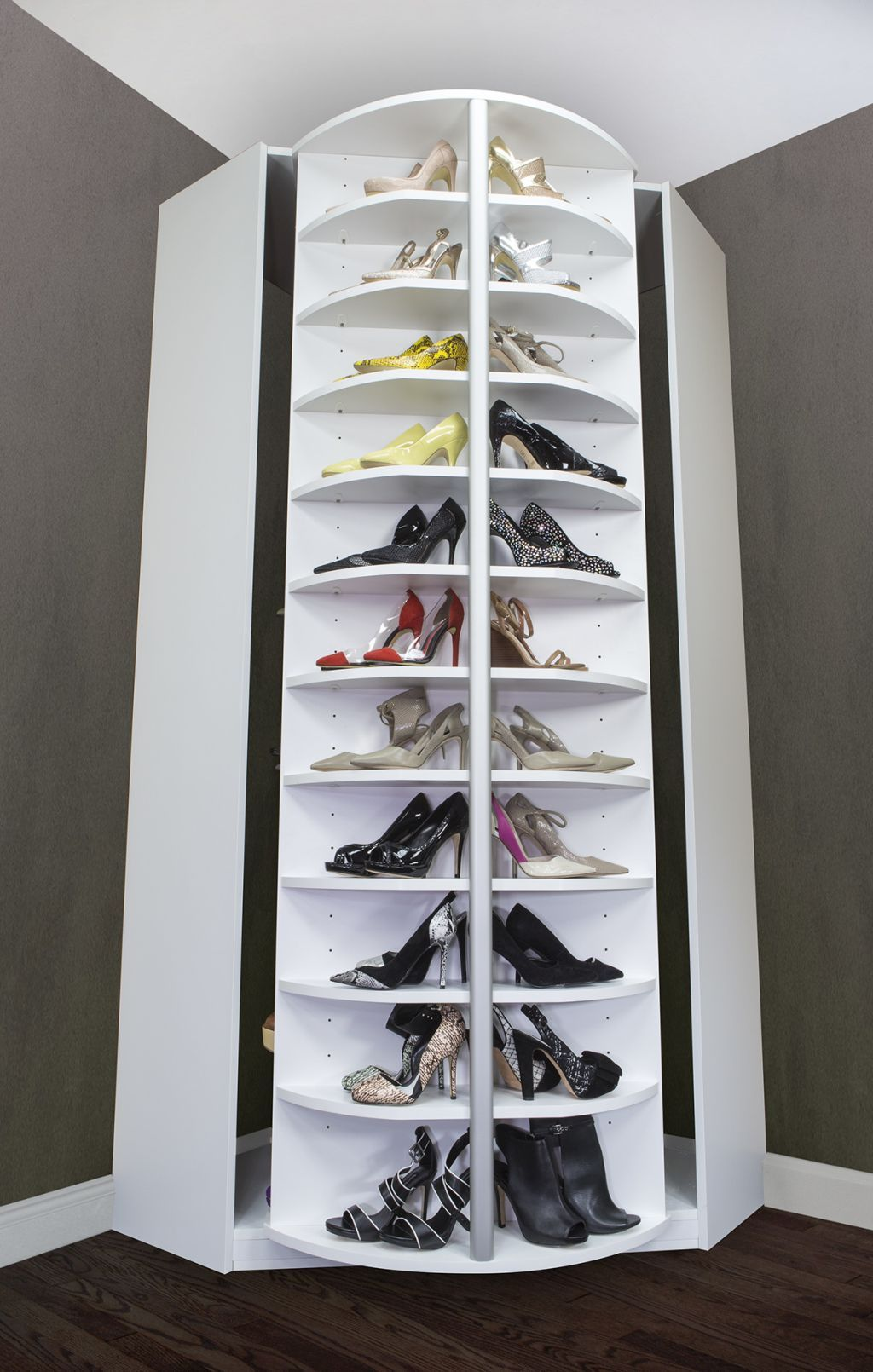 Image Of Rotating Shoe Rack In Corner Home Pinterest