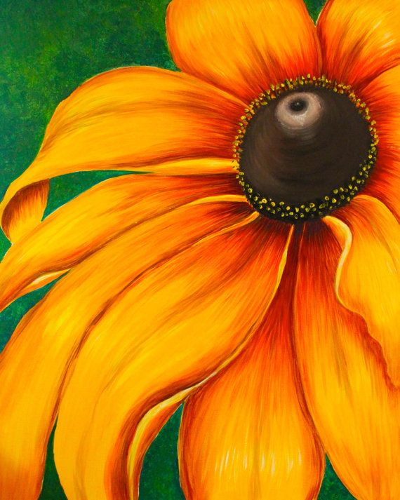 Image gallery large sunflower painting for How to paint sunflowers in acrylic