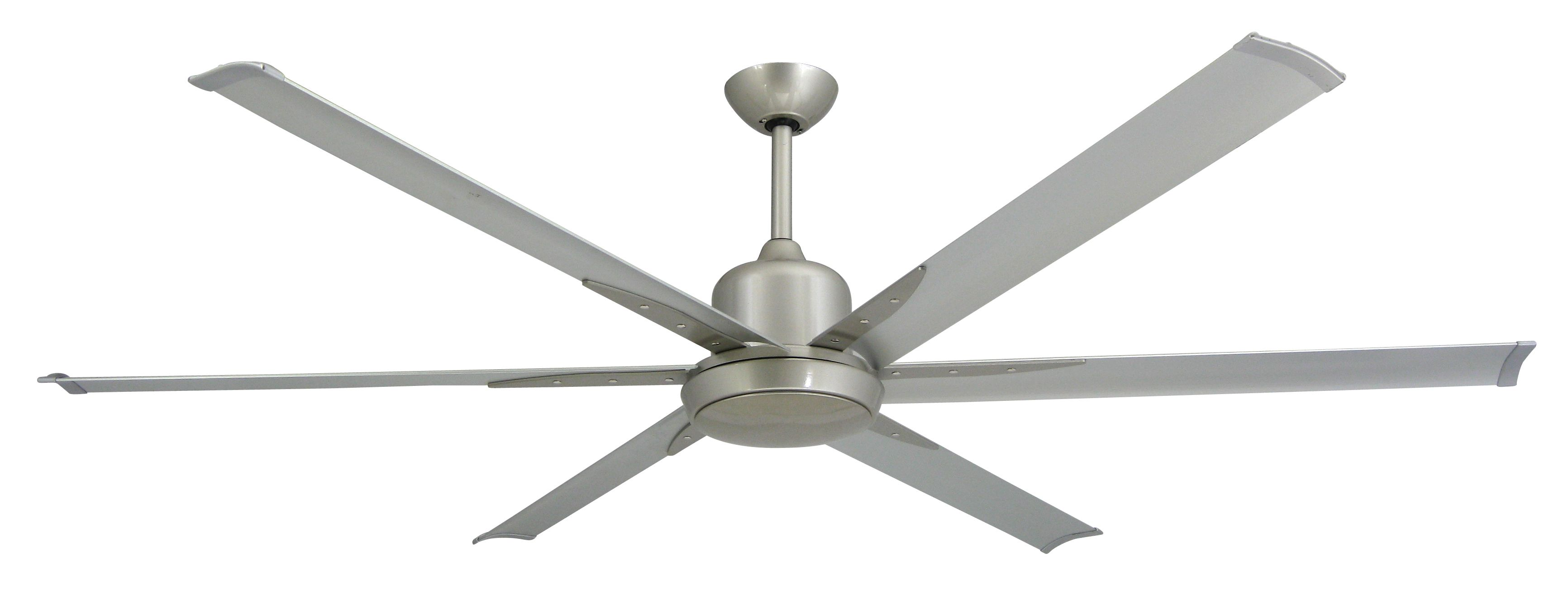 TroposAir Titan Brushed Nickel Industrial Ceiling Fan with