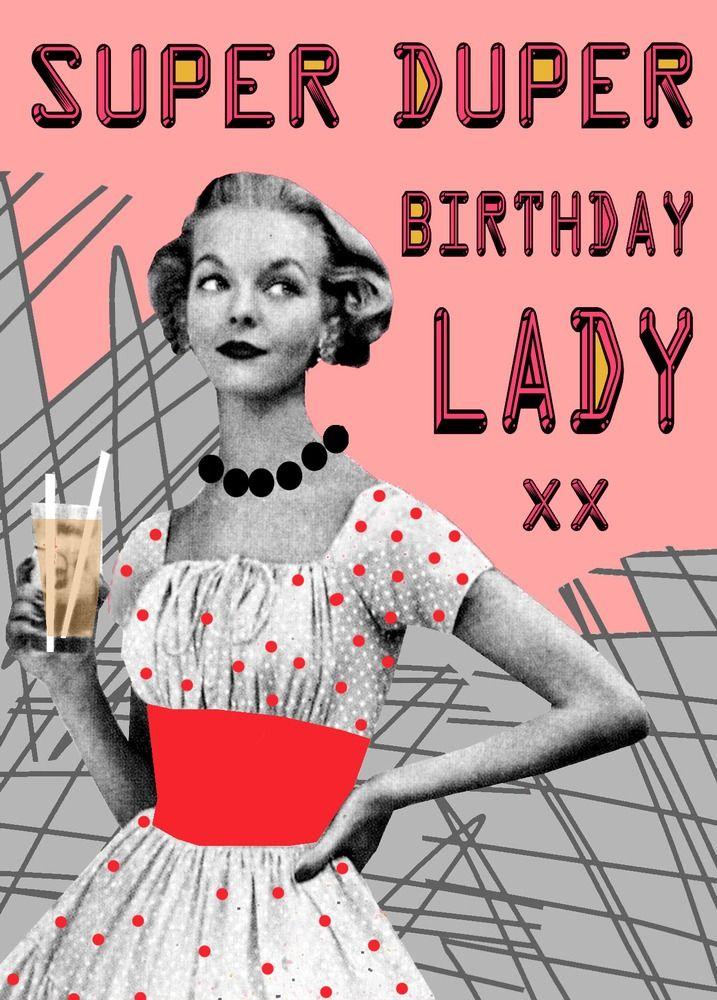 Happy Birthday Lady! Verjaardag uitnodigingen