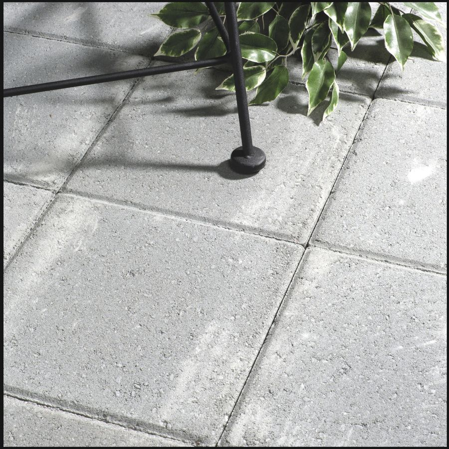 Shop Gray Square Patio Stone (Common: 12 In X 12 In; Actual: 11.7 In X  11.7 In) At Lowes.com