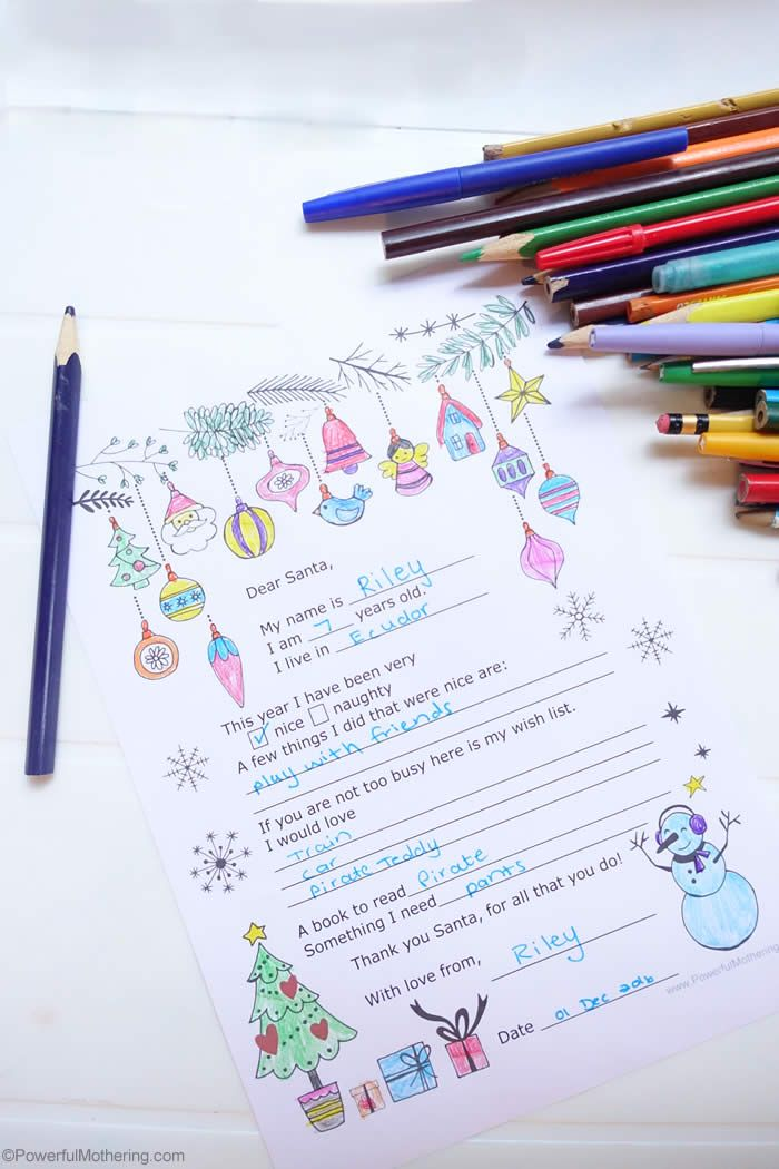 Write A Letter To Santa  Printable Letters Santa And Activities