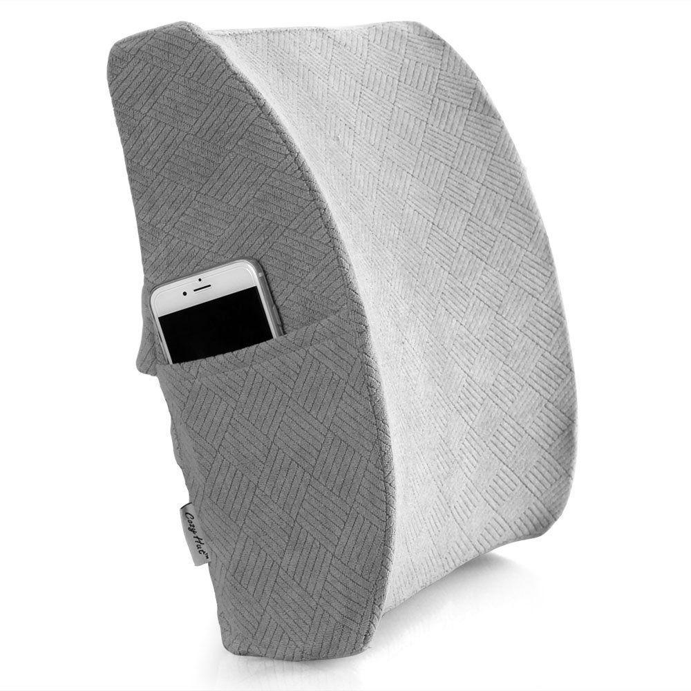 Cozy hut memory foam lumbar support back pillowgrey cozy hut