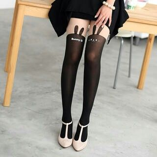 Two tone bunny tights- yesstyle.com