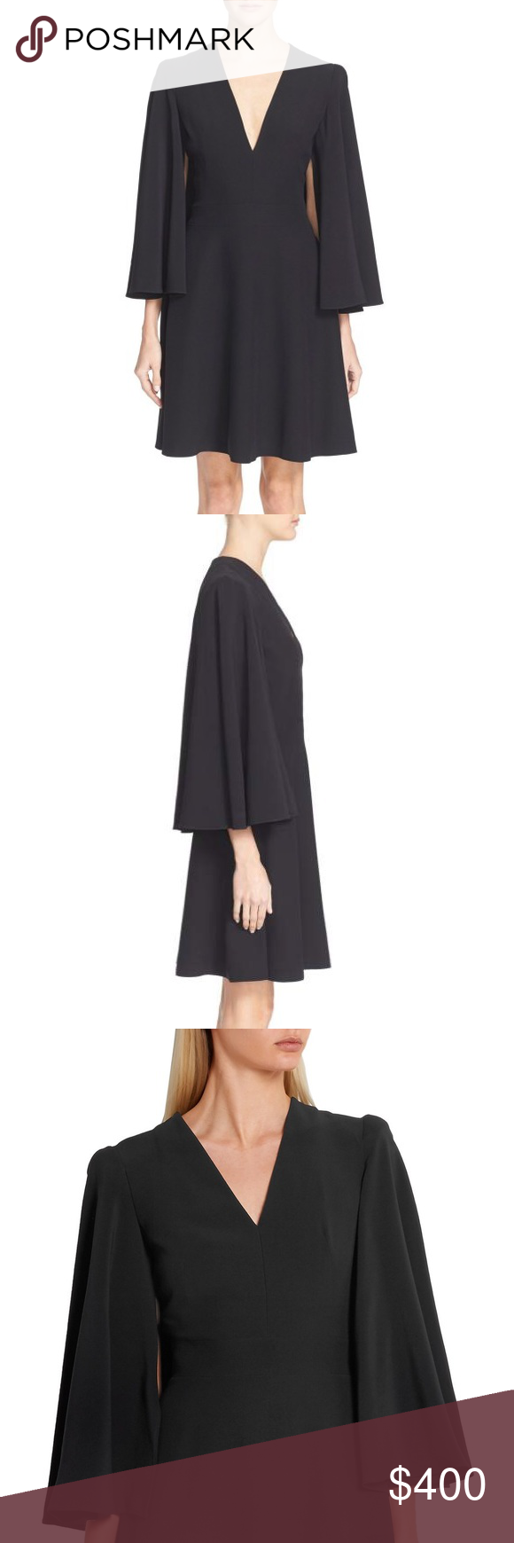9ee67f5ba13074 Alexander McQueen Caped Dress NWOT Alexander McQueen crepe dress with an  elegant cape. Stellar sewing