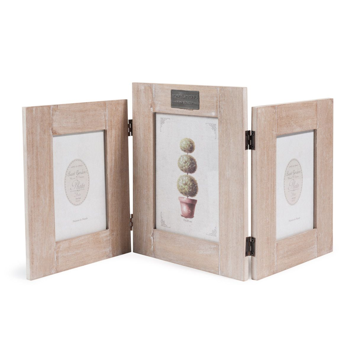 Marco para 3 fotos de madera 25 x 54 cm ANNA | Maisons du Monde ...