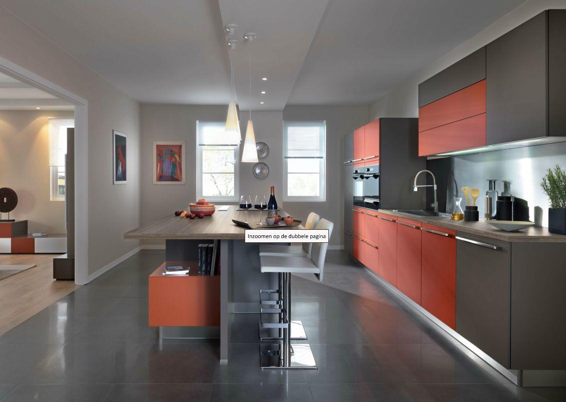 model 'arcos' van schmidt in een uitgesproken warme kleurstelling ... - Designer Chefmobel Moderne Buro