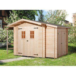 Weka Holz Gartenhaus Bologna Natur B X T 340 Cm X 200 Cm Davon 140 Cm Anbaudach Kaufen Bei Obi Gartenhaus Gartenhaus Kaufen Holzgartenhaus