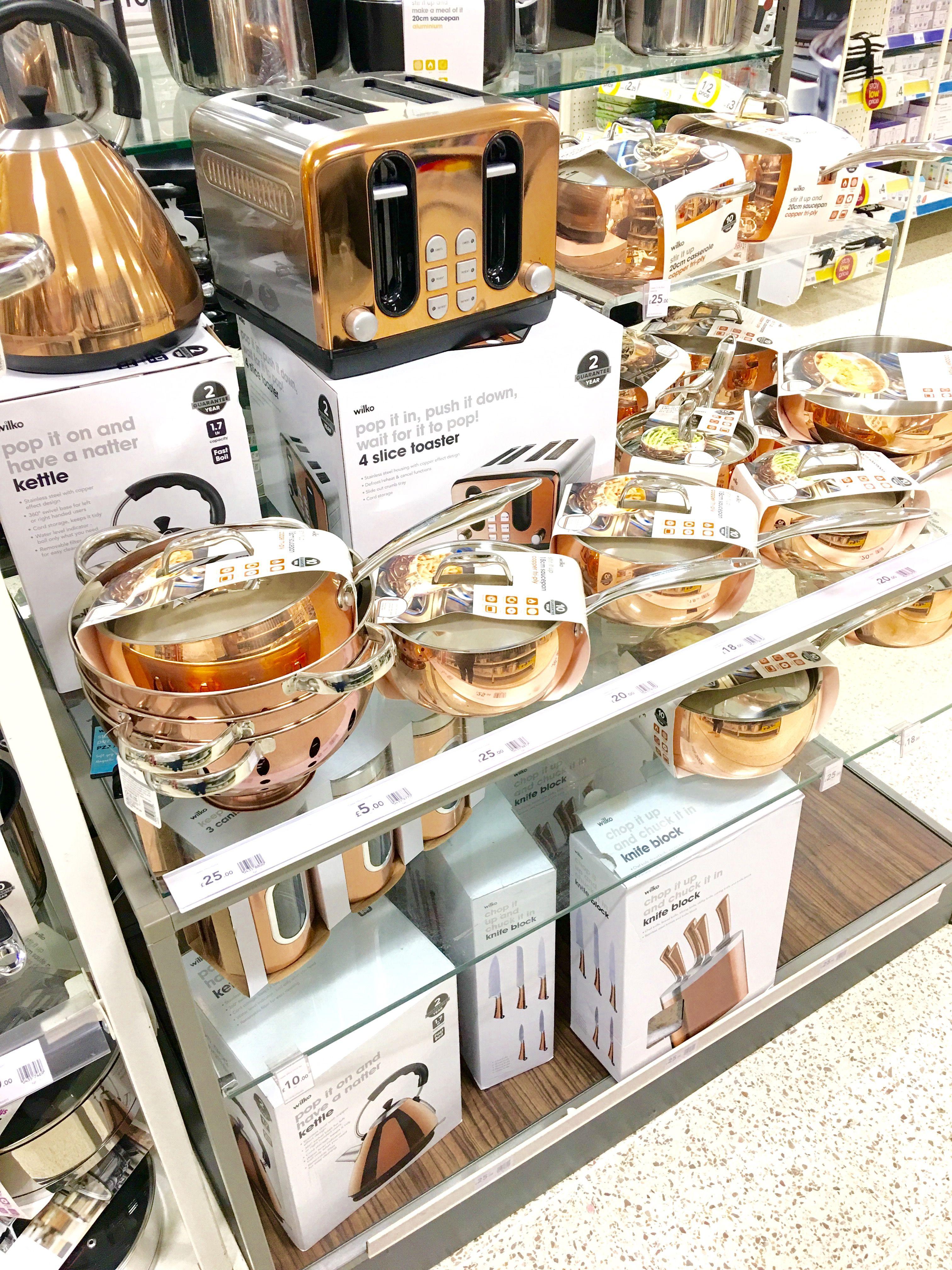 Wilko has rose gold kitchen accessories 😍😍 | Gold kitchen ...