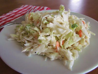 Use fresh cabbage instead.  The Country Cook: Country Cole Slaw