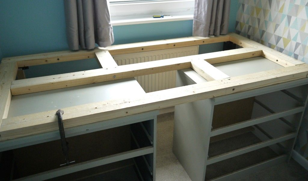 Ikea malm drawer hack to single bed barnrum sm sovrum for Malm kommode weiay