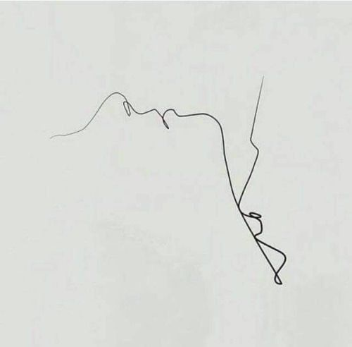 minimalist drawing 13 one line drawing love making