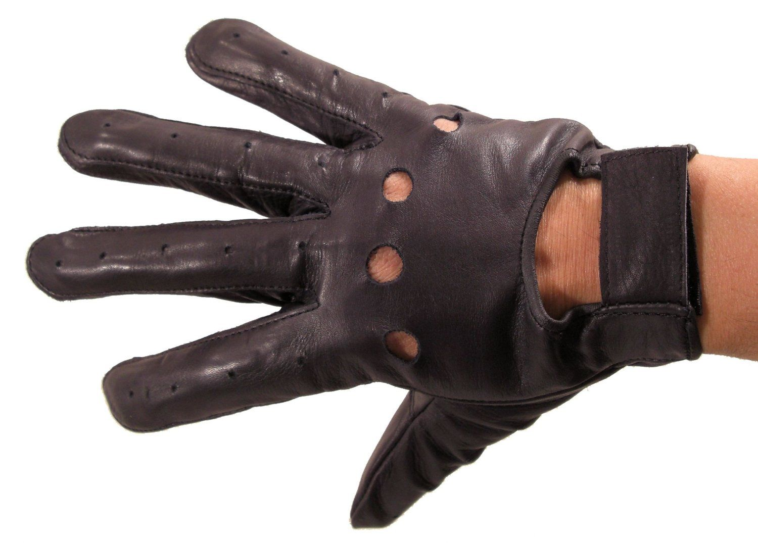 Lightweight leather driving gloves - Amazon Com Leather Supreme Men S Lightweight Genuine Leather Perforated Driving Gloves