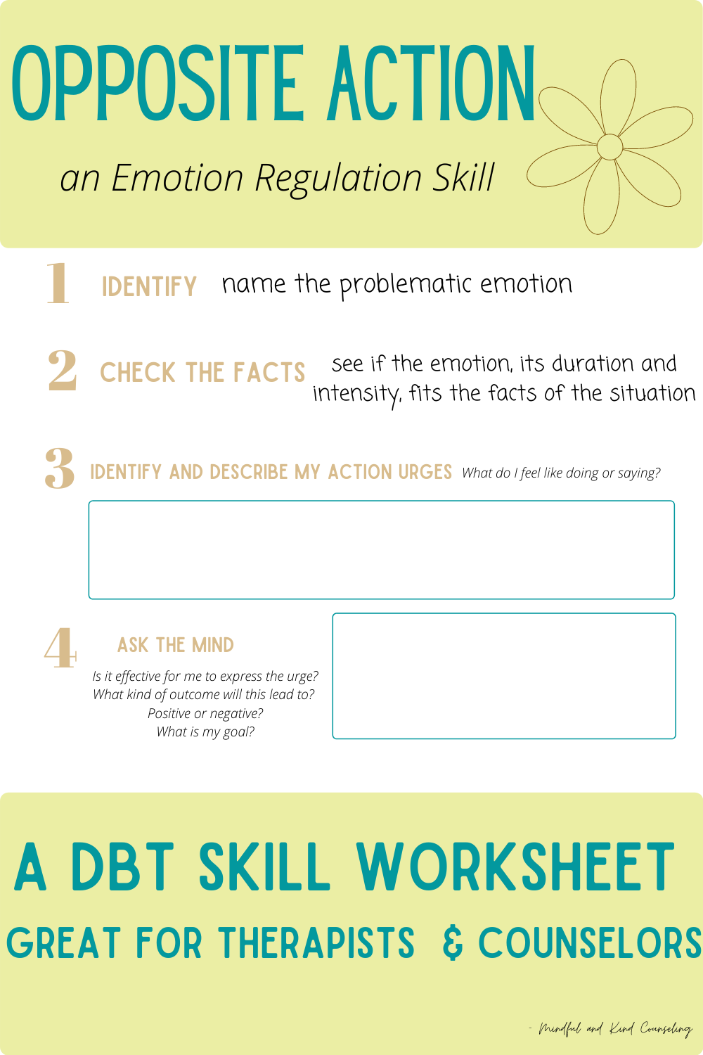 DBT Worksheet & Activity SEL in 2020 Dialectical