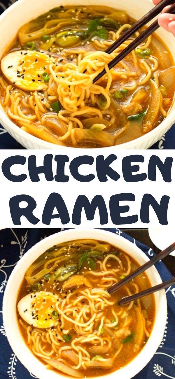 Easy Chicken Ramen Recipe Great Chicken Recipes Easy Chicken Recipes Dinner Recipes