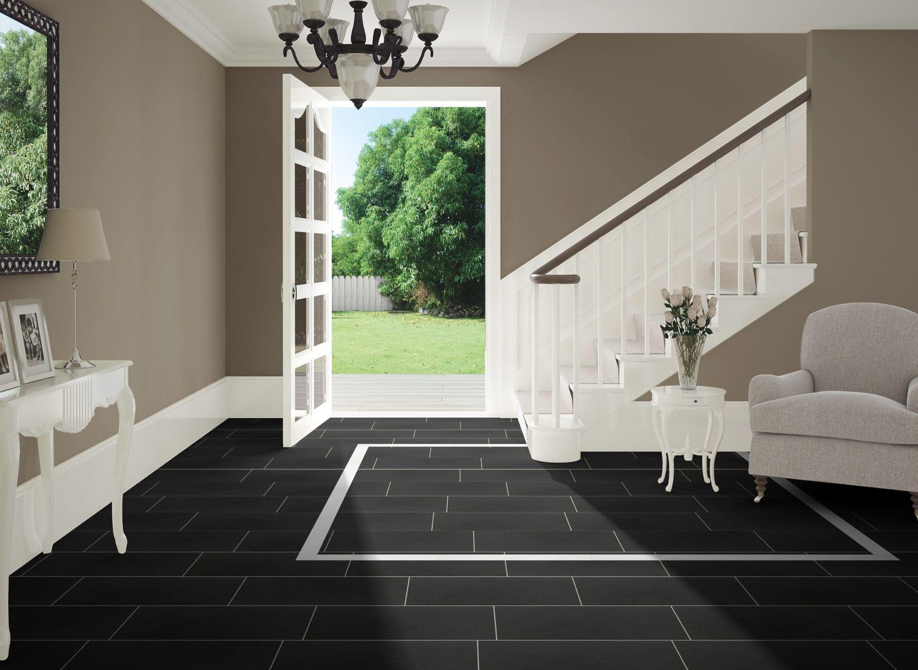 Anatolia Lobby Black And White Tile  Arley Evolution Tile Design New Black And White Tile Designs For Kitchens Inspiration Design