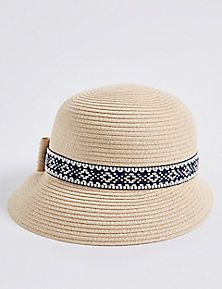 23972a006d6 Stripe   Trim Sun Hat