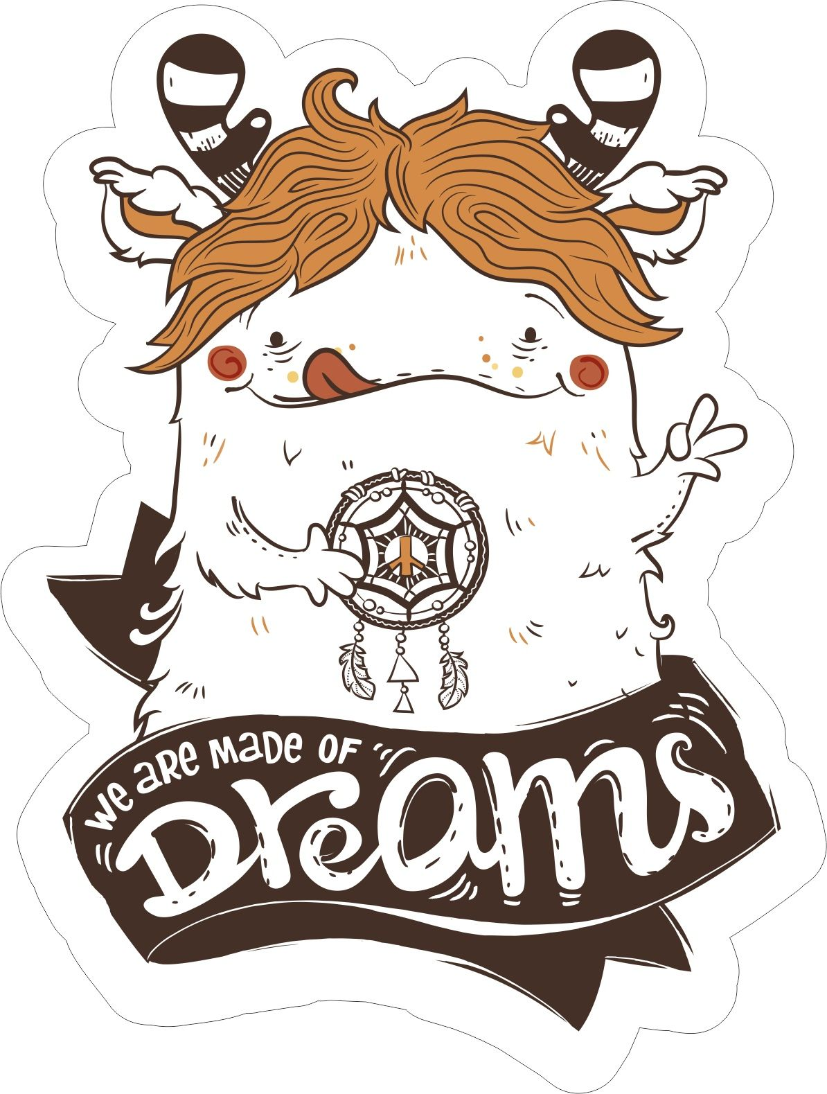 Made of dreams sticker wall stickers vector free stickers car stickers free t