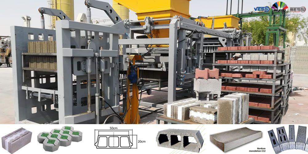 Unite De Production Des Parpaings Paves Hourdis Et Bordures Code Prs 800 Automatique Prix De La Machine 10 Usd Capacite