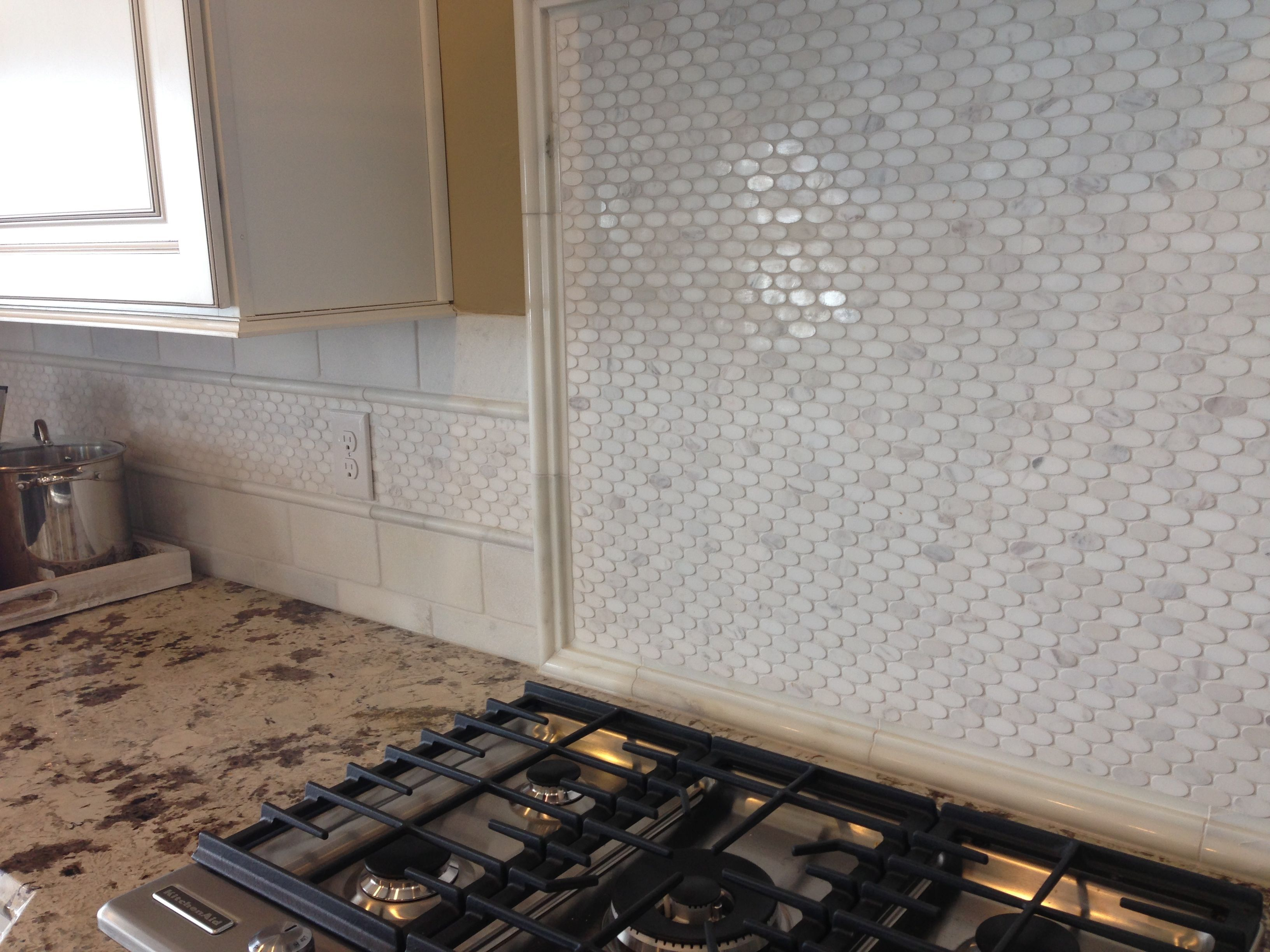 oval backsplash tile Pinterest