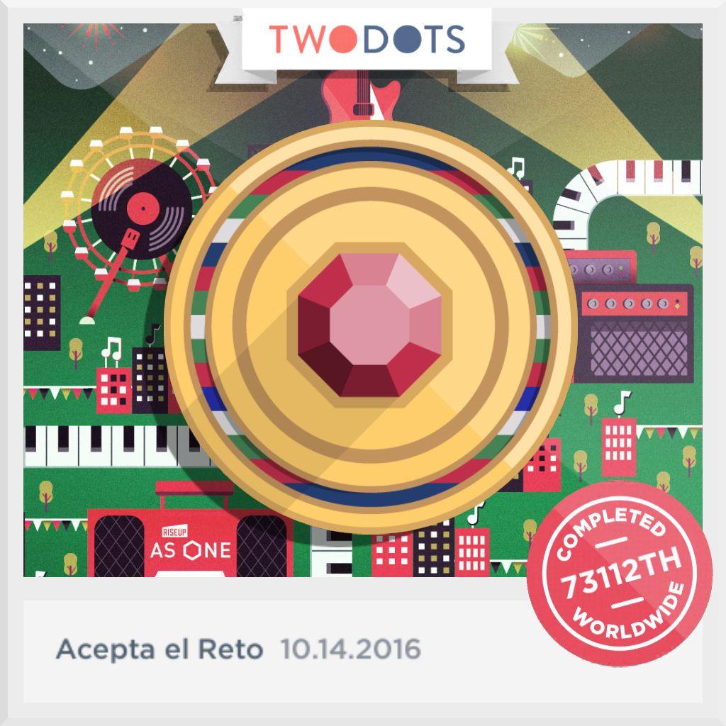 ¡Encontré el Token de Unidad y celebré la victoria global al Aceptar el Reto! - playtwo.do/ts #TwoDots