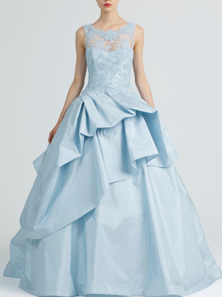 Light blue kenneth pool wedding ball gown blue pinterest blue