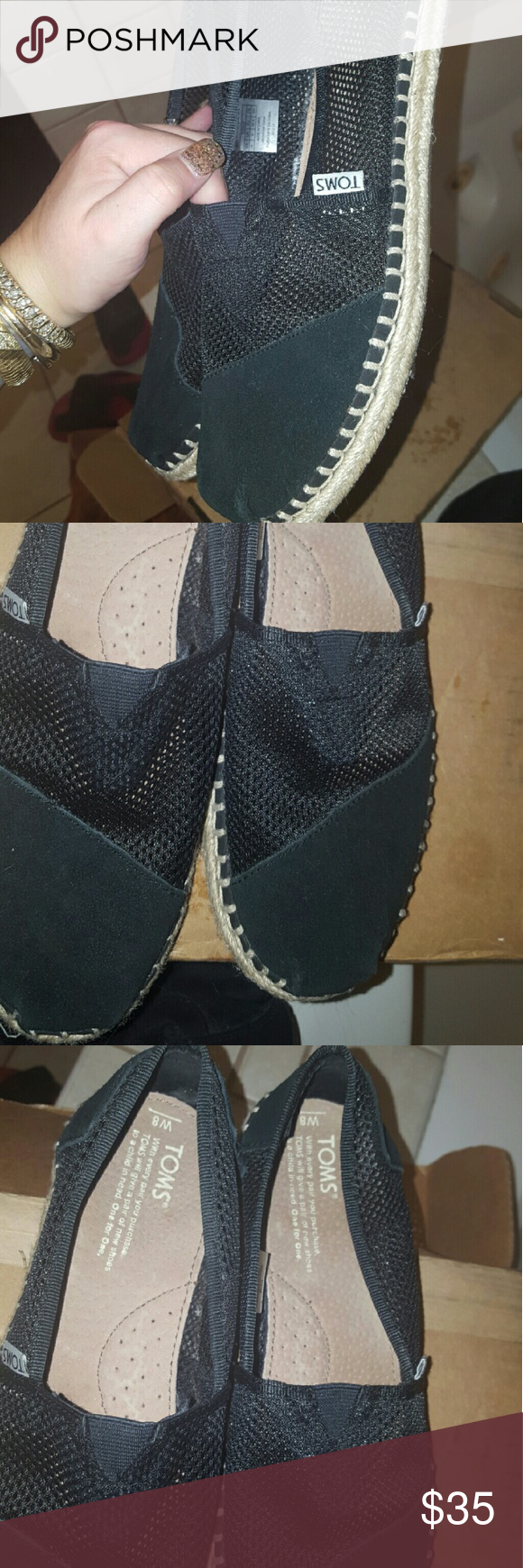 Toms flats mesh & suede size 8 NEW Toms flats mesh & suede size 8 NEW TOMS Shoes Flats & Loafers