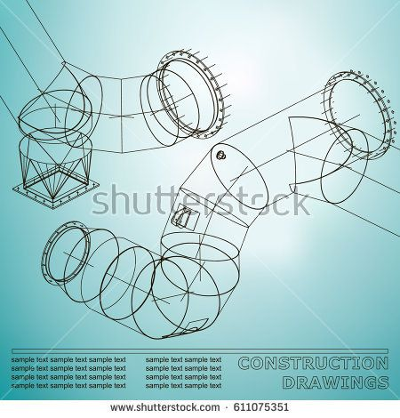 Drawings of steel structures pipes and pipe 3d blueprint of steel drawings of steel structures pipes and pipe 3d blueprint of steel structures background for your design light blue malvernweather Images