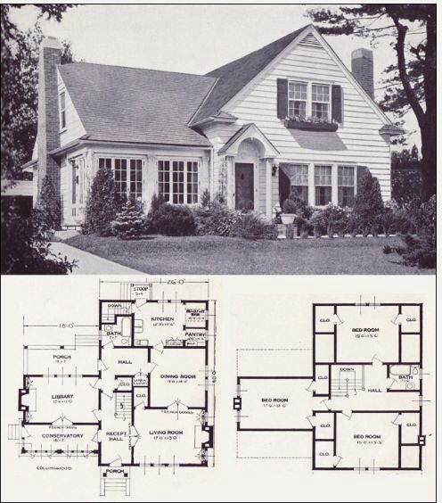 Wonderful Cottage House Styles House Floor Plans Vintage House Plans