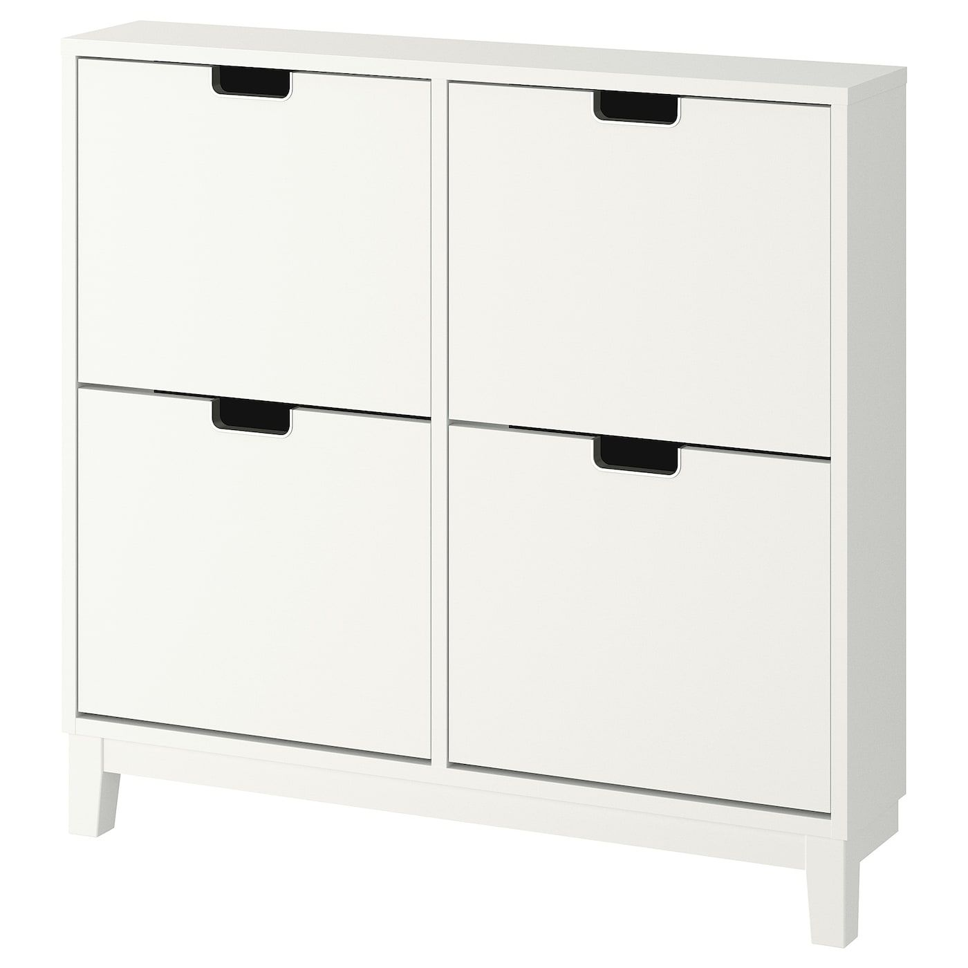 Ikea Stall White Shoe Cabinet With 4 Compartments Schuhschrank