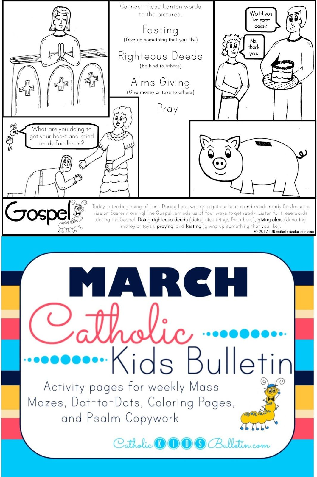 March Catholic Kids Bulletin