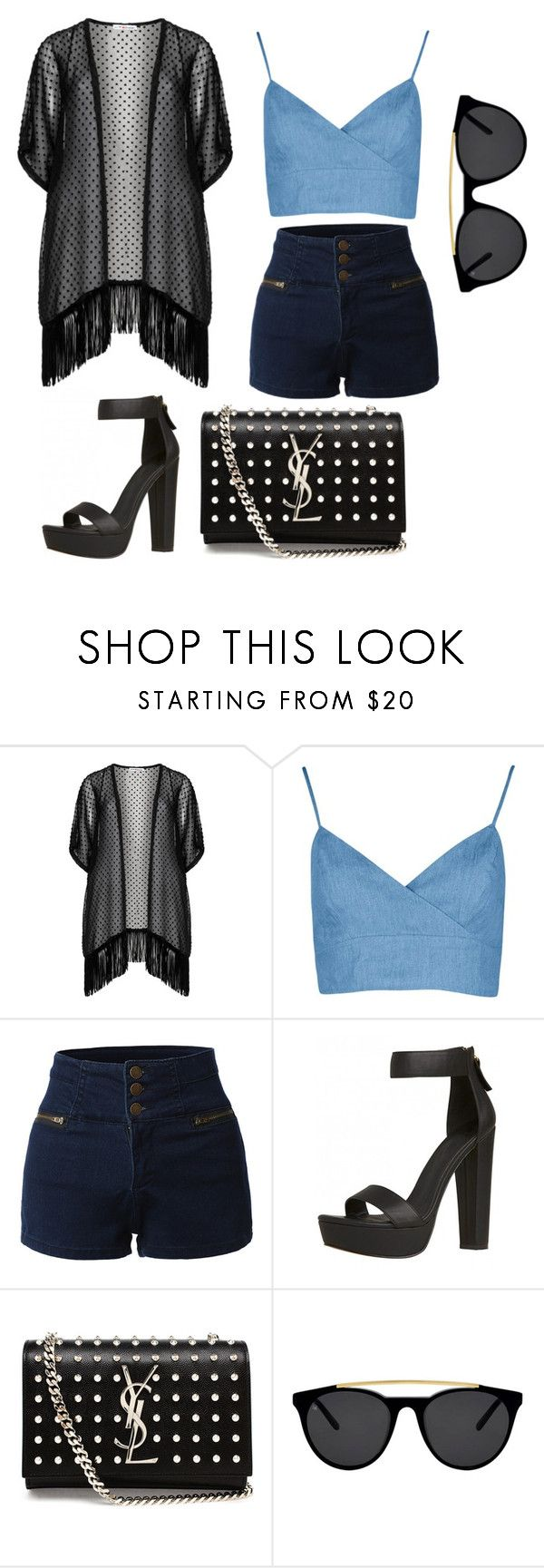 """Summer clothes"" by snowingskies ❤ liked on Polyvore featuring Maxima, Boohoo, LE3NO, Yves Saint Laurent and Smoke x Mirrors"