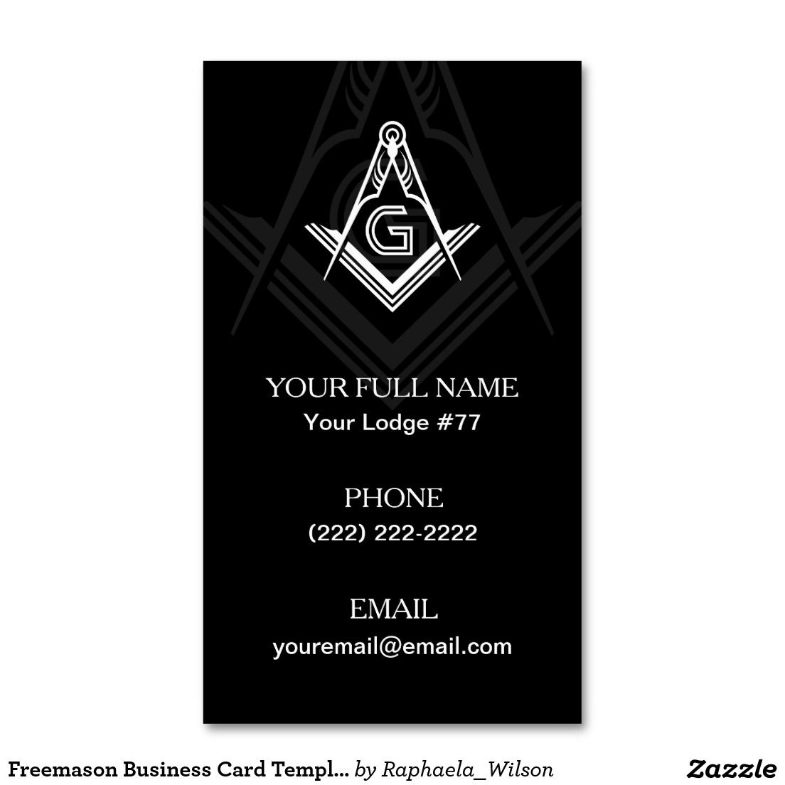 Freemason Business Card Templates | Masonic Cards | Pinterest | Card ...