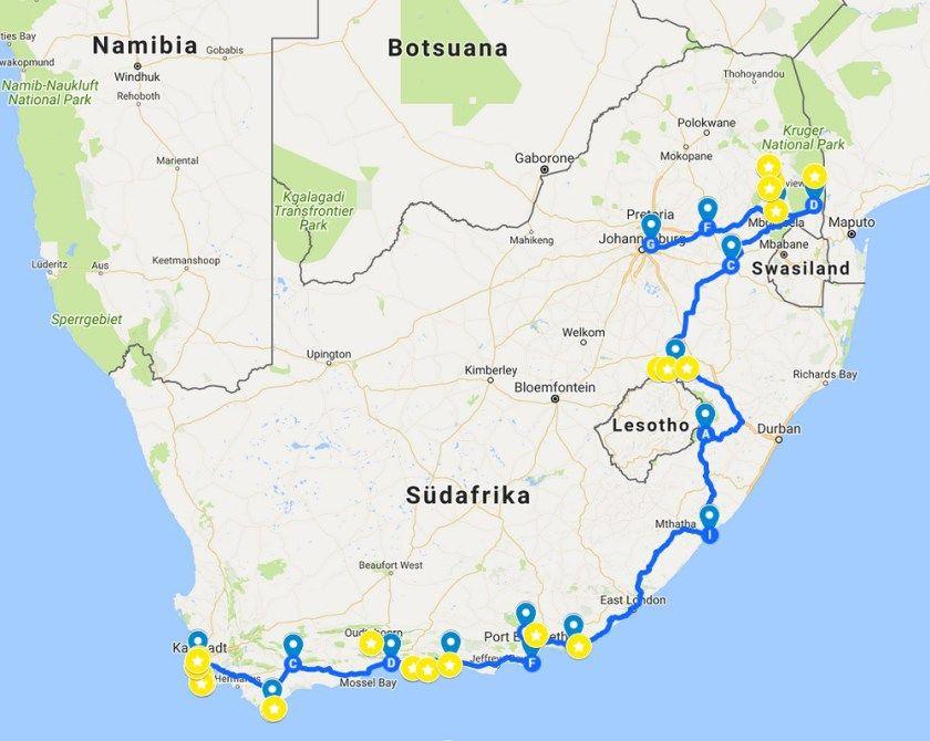 Sudafrika 3 Wochen 4627 Km Von Kapstadt Bis Johannisburg