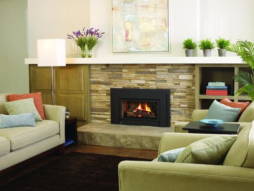 Gas Fireplaces - contemporary - fireplaces - sacramento - Rustic ...