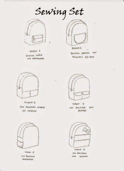 seis modelos de mochila para niños con patron y tutorial | Bolsa ...