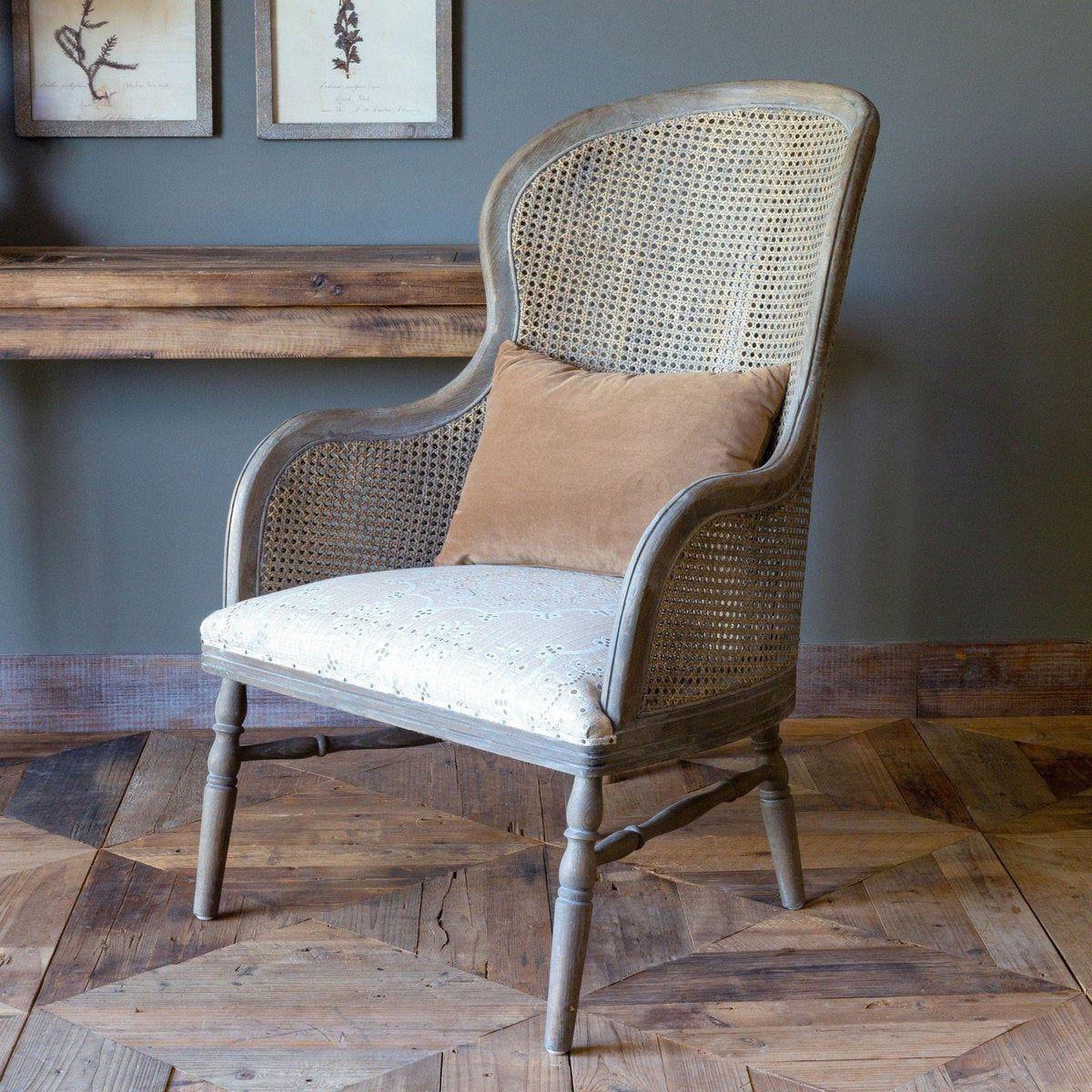 Cane back chair shabby loveseat modernfarmhouse