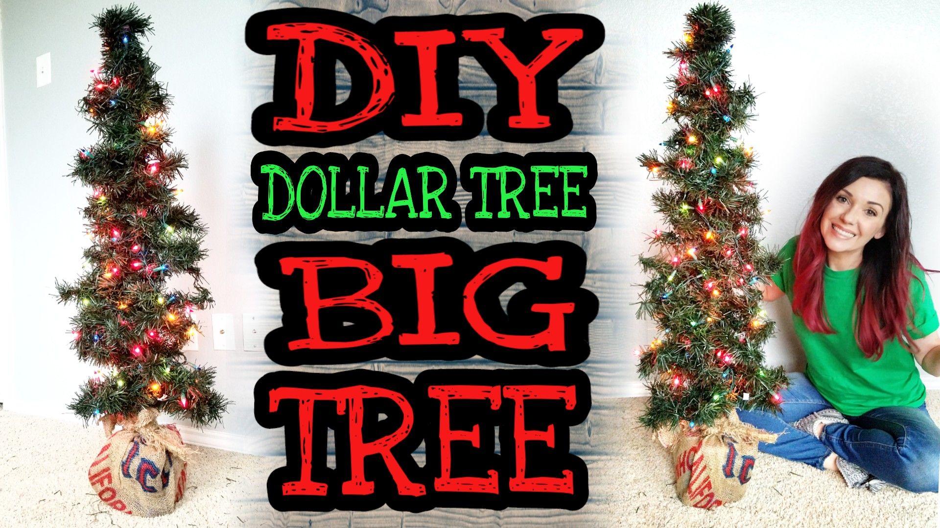 Diy Christmas Dollar Tree Decor Only 7 Or Less Diy Christmas Tree 4ft Tall Super Easy Super Ch Diy Dollar Tree Decor Skinny Christmas Tree Dollar Tree Diy